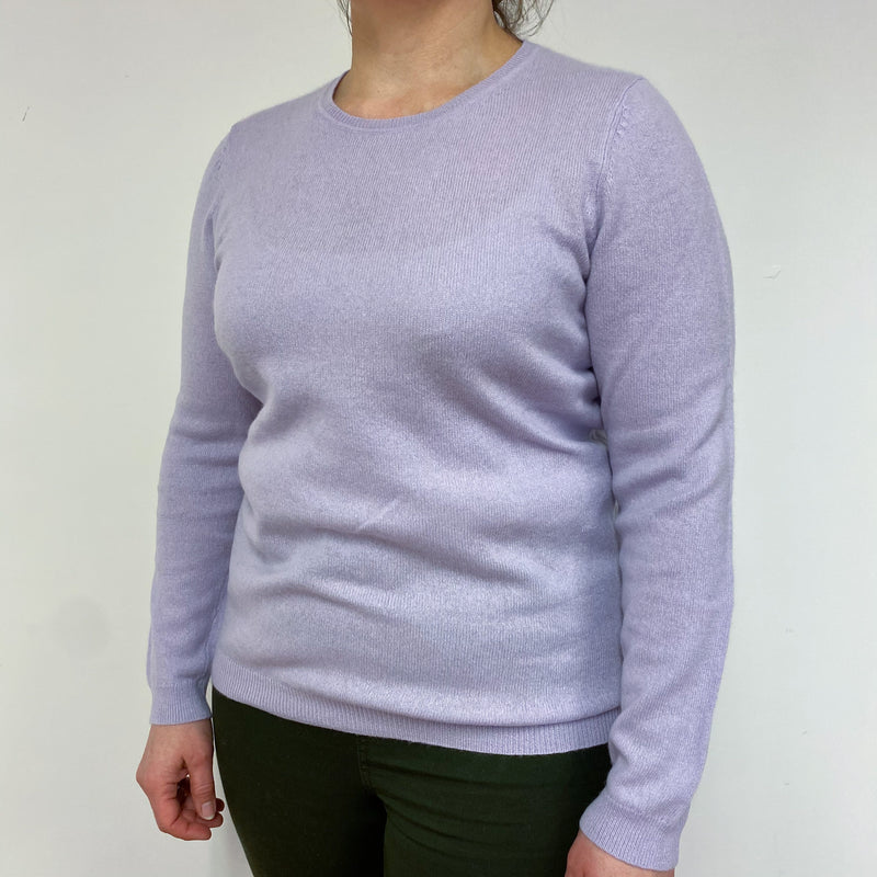 Lilac Crew Neck Jumper Large