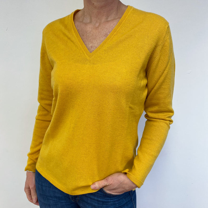 Brand New Scottish Dandelion Yellow V Neck Jumper