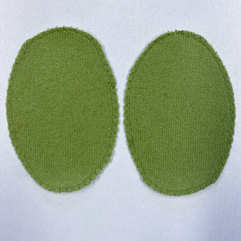 Pear Green Green Elbow Patches