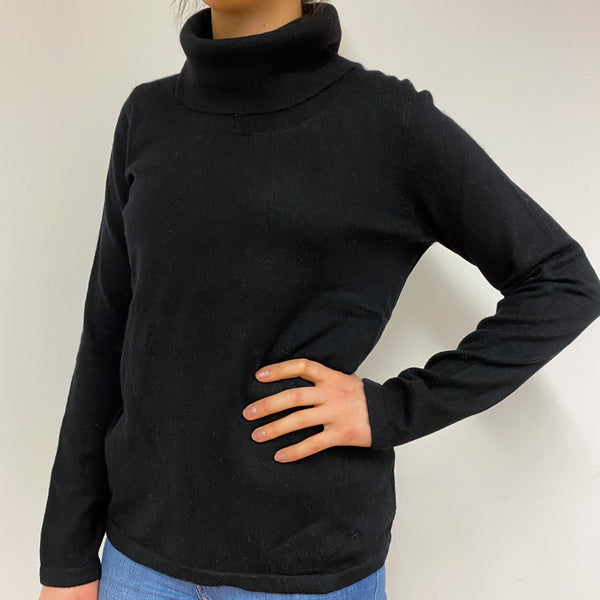 Black Polo Neck Jumper Small