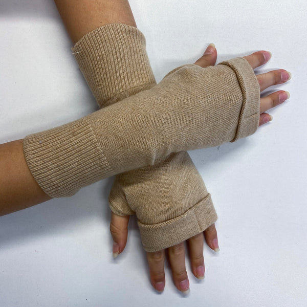 Camel Fingerless Gloves