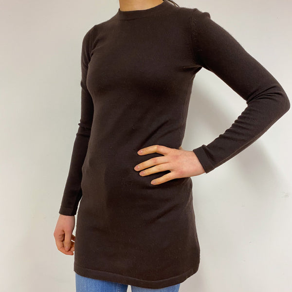 Chocolate Brown Tunic Dress Small