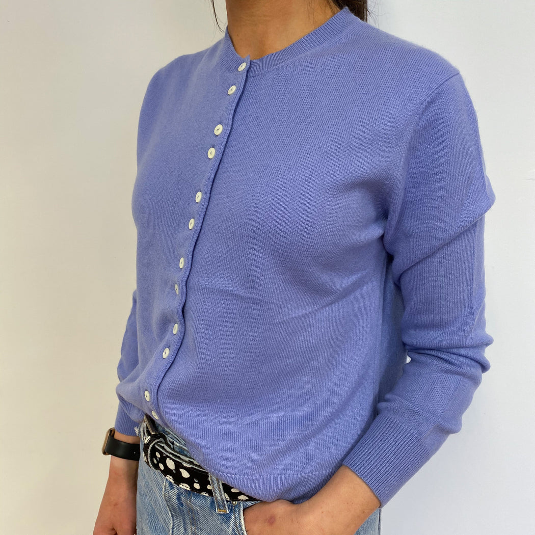 Gorgeous Lavender Purple Crew Neck Cardigan Small