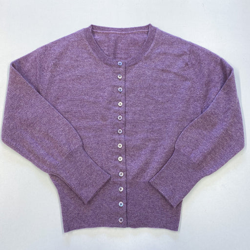*New* Children's Age 8 Lavender Purple Crew Neck Cardigan