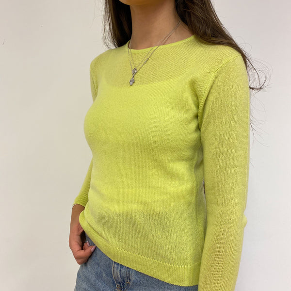 Brand New Chartreuse Crew Neck Lightweight Jumper Extra Small