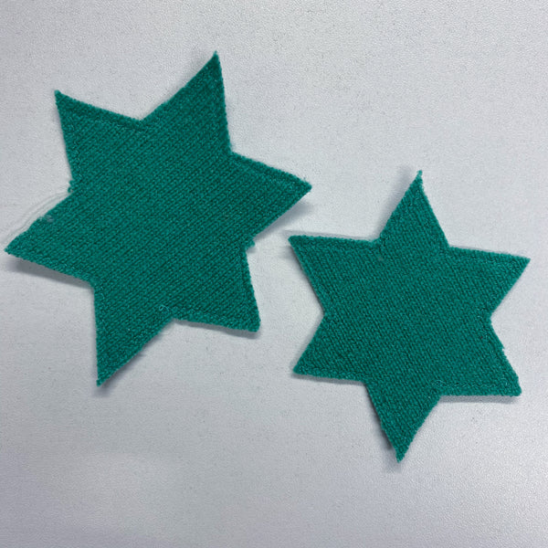 Pair of Seafoam Green Star Patches