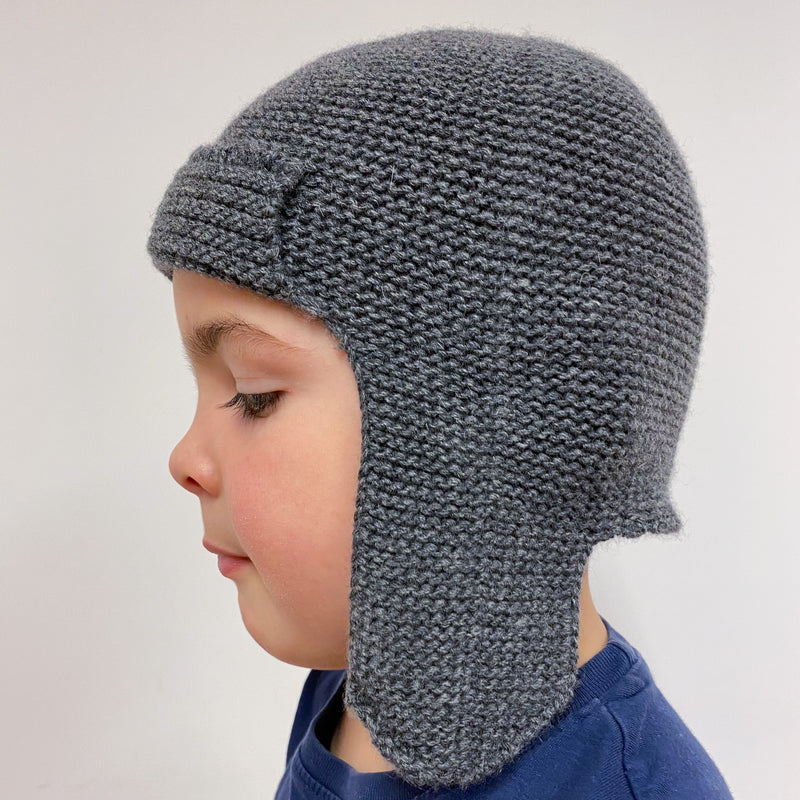 Children's classic knit Hat Grey