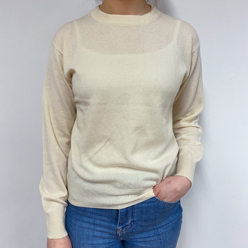 Vintage Buttermilk Crew Neck Jumper Small