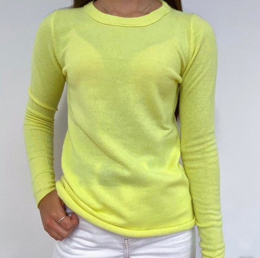 Lime Yellow Crew Neck Jumper XS