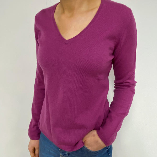 Violet V-Neck Jumper Small