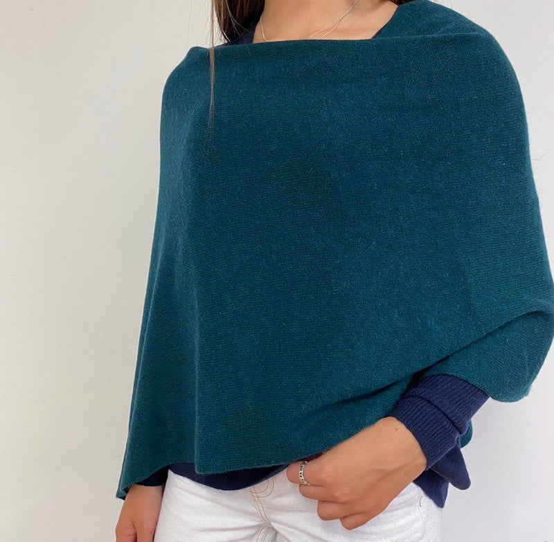 Forest Green Poncho One Size