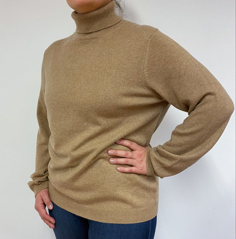 Heavy Weight Camel Polo Neck Large