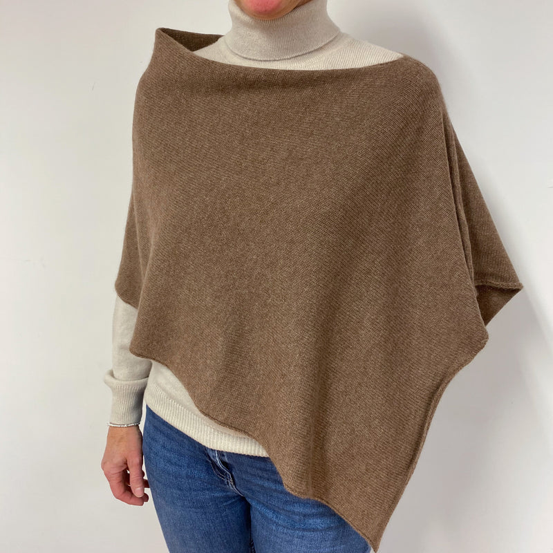Fantastic Tawny Brown Poncho One Size