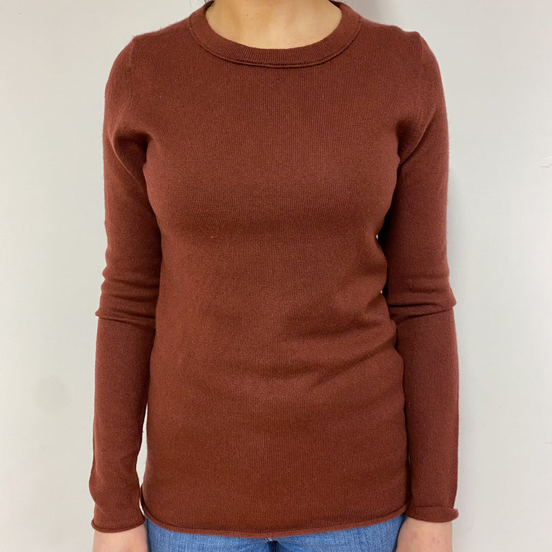 Nutmeg Brown Crew Neck Jumper Small