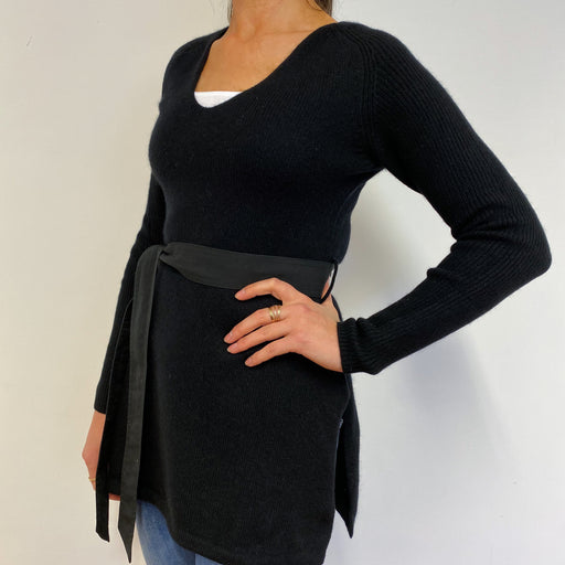 Vintage Bloomingdales Black Tunic Style Jumper Small