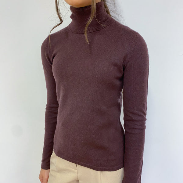 Blueberry Polo Neck Jumper Extra Small