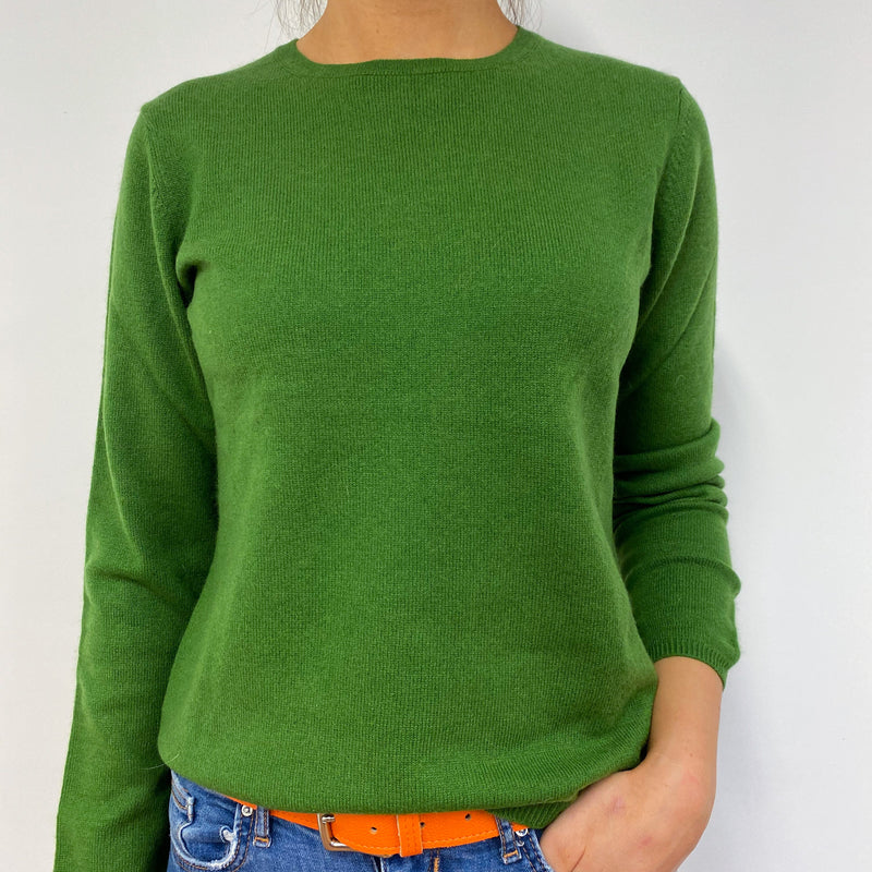 Pickle Green Crew Neck Jumper Small