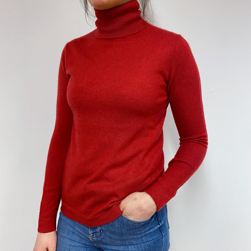 Spanish Red Star Polo Neck Jumper Small