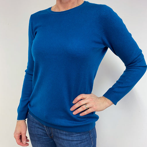 Teal Blue Crewneck Jumper Medium