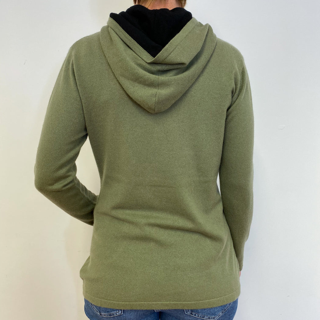 Khaki Green Hoodie With Front Pocket Medium