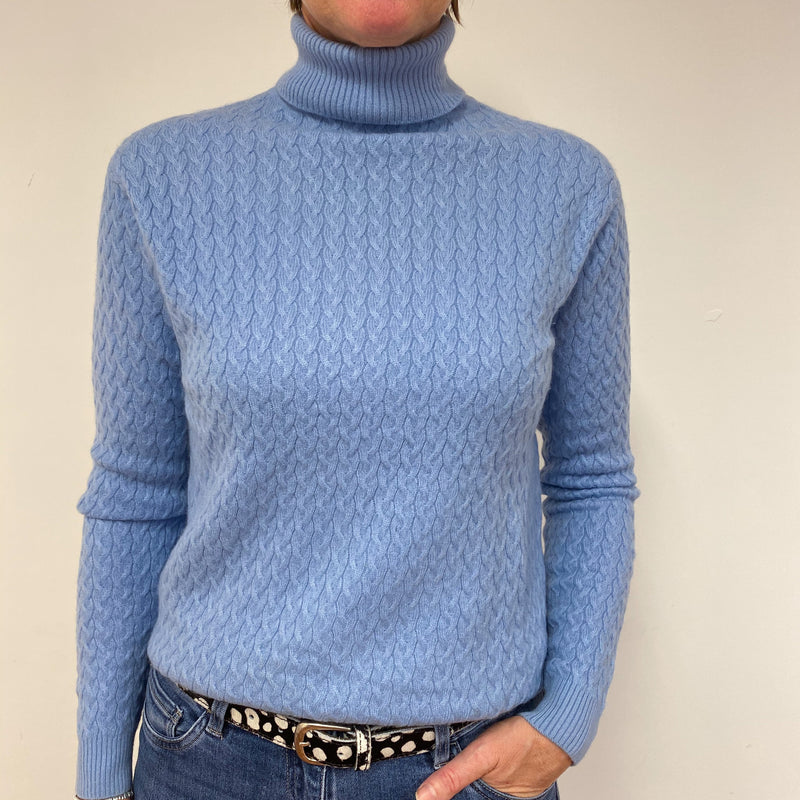 Cornflower Blue Polo Neck Medium