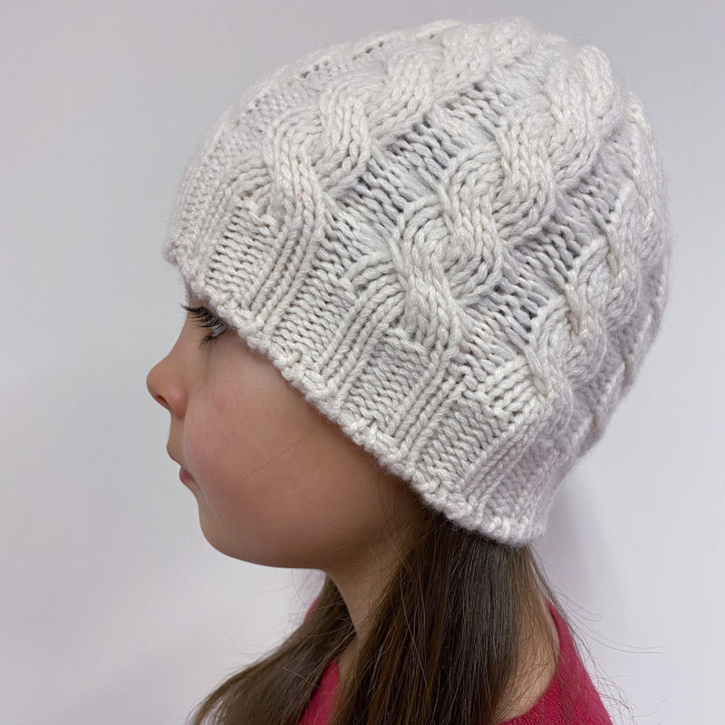 Children's Cable knit Hat Cream