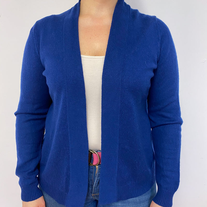 French Navy Open Heart Cardigan Large