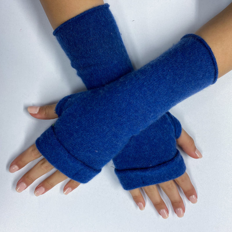 Denim Blue Fingerless Gloves
