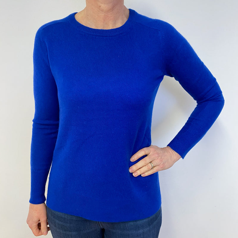 Cobalt Blue Crew Neck Jumper Medium