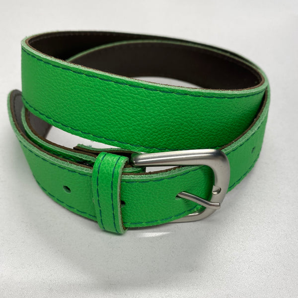 Leather Bright Green Belt