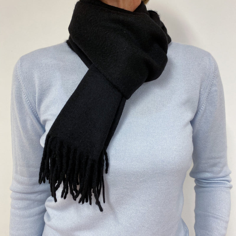 Traditional Woven Black Scarf