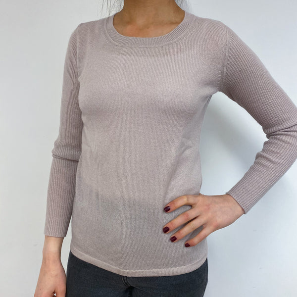 Lightweight Palest Pink Crew Neck Jumper Small