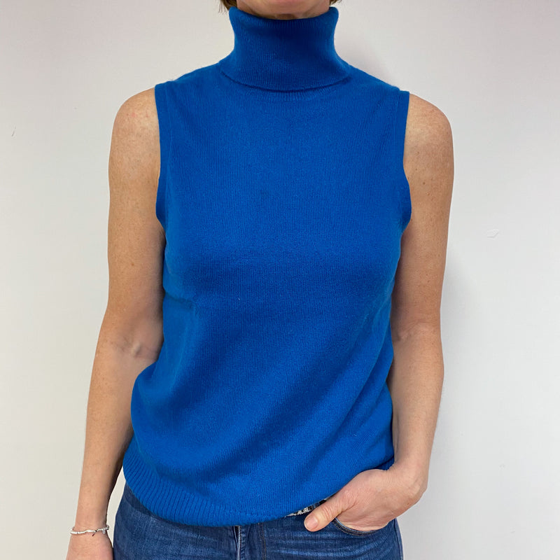 Teal Polo Neck Tank Top Medium