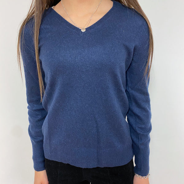 Old Navy Blue V Neck Jumper Extra Small