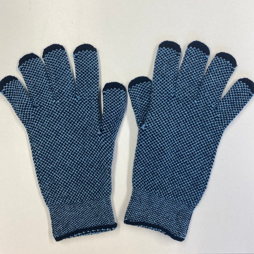 *New* Blue Recycled Cashmere Gloves