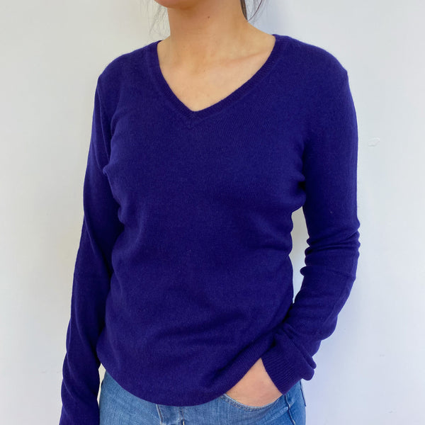 Grape V Neck Jumper Small