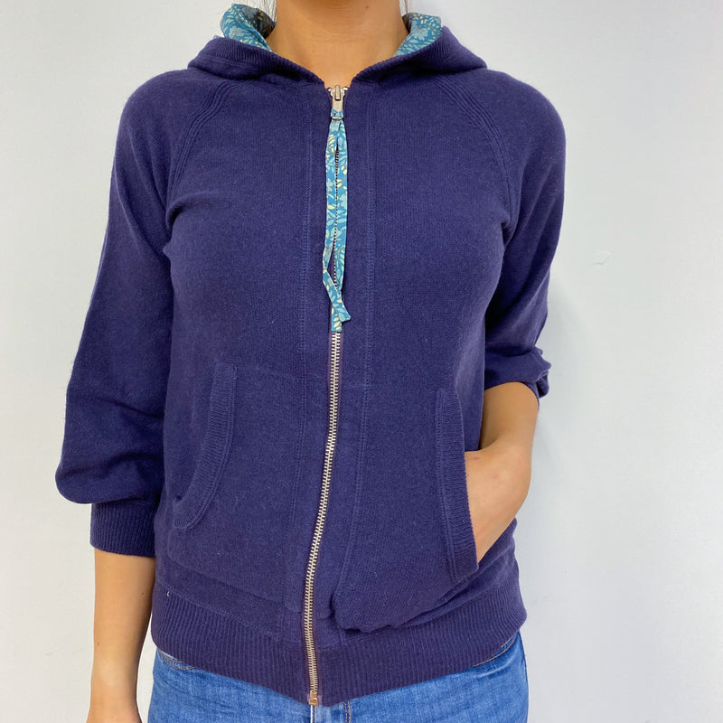 Marc Jacobs Purple Zip Through Hoodie Small