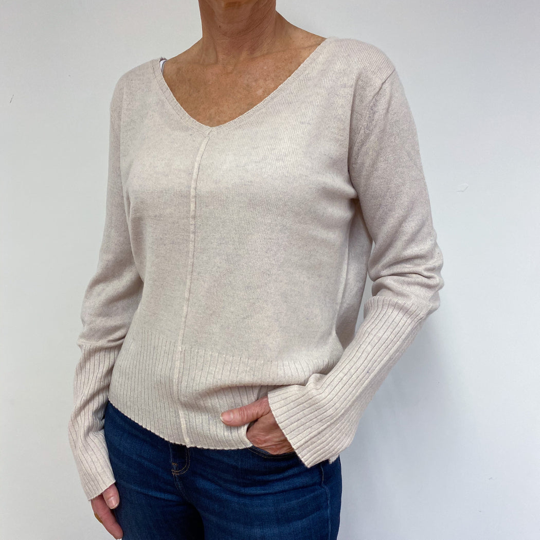 Nude Slouchy Fit V Neck Jumper Medium