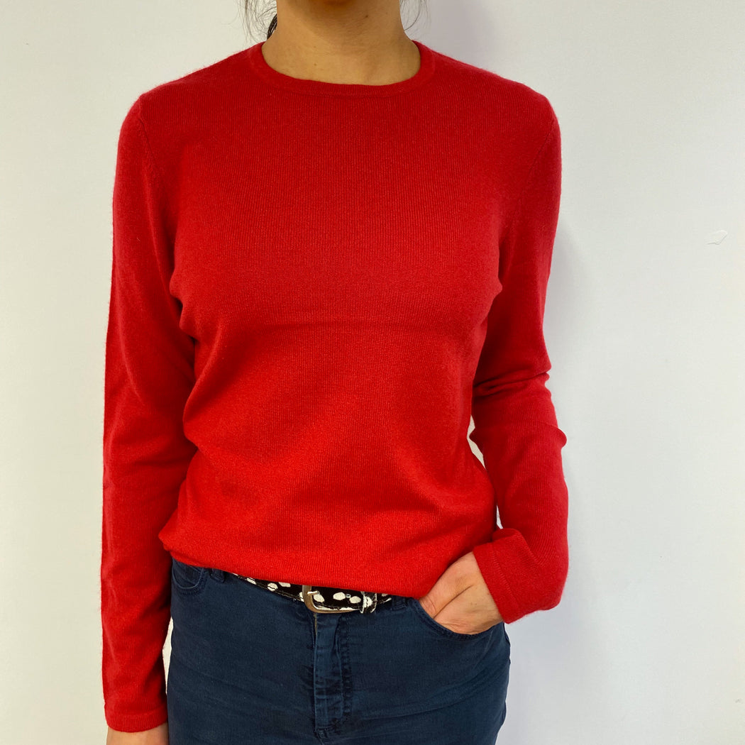 Scarlett Red Crew Neck Jumper Small
