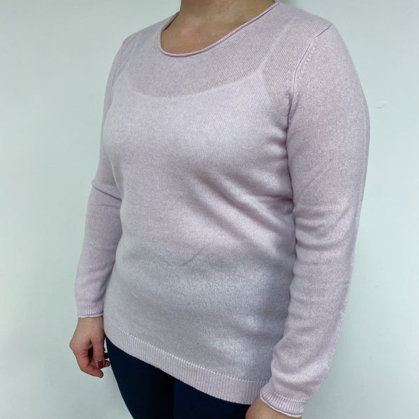 Baby Pink Crew Neck Jumper Large