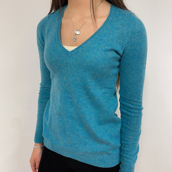Sea Green V Neck Jumper Extra Small