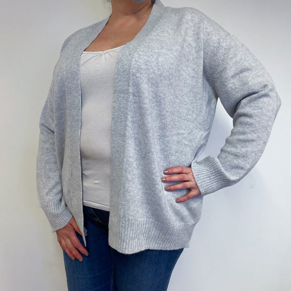 Brand New Pale Grey Edge to Edge Cardigan Extra Large