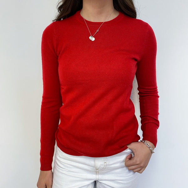 Poppy Red Crew Neck Jumper Extra Small
