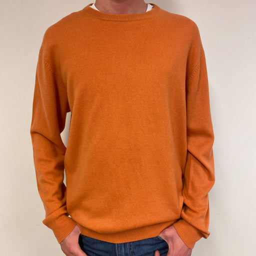 Men's Tangerine Crew Neck Jumper Medium