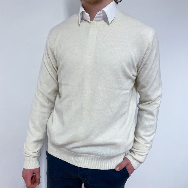 Men's Vanilla Crew Neck Jumper Medium