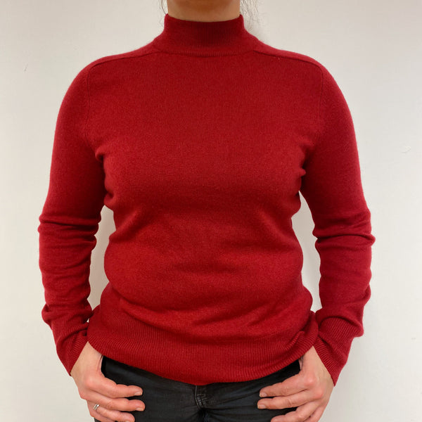 Ruby Red Turtle Neck Jumper Large