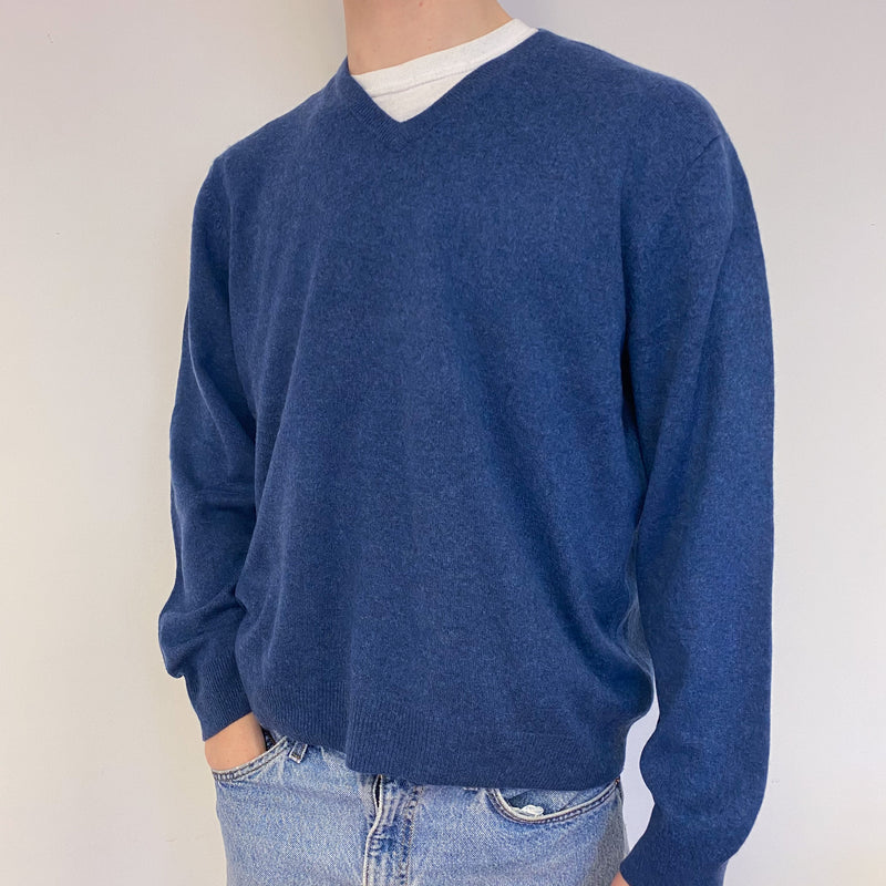 Men's Naval Blue Crew Neck Jumper Extra Large