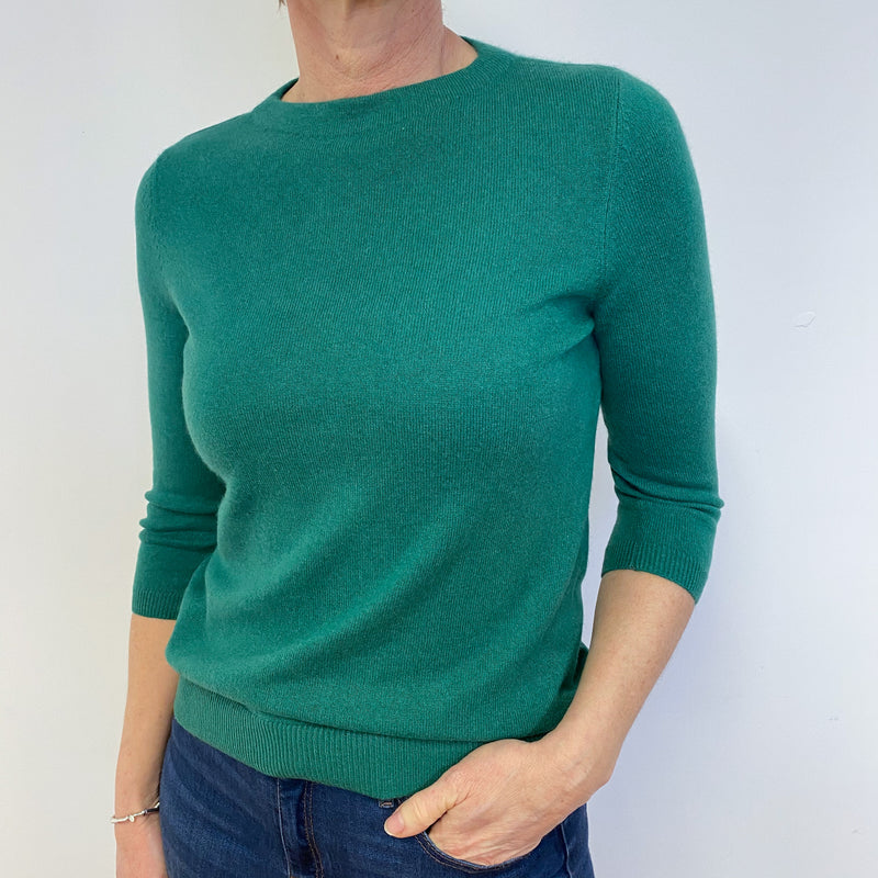 Shamrock Green Crew Neck Jumper Medium Petite