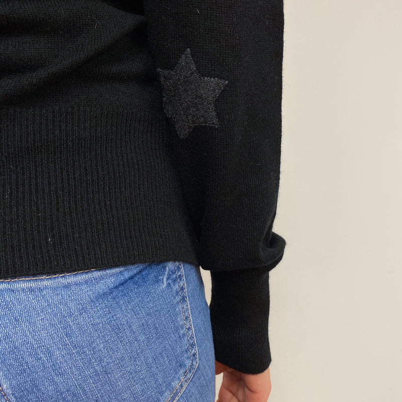 Black Star Polo Neck Jumper Small