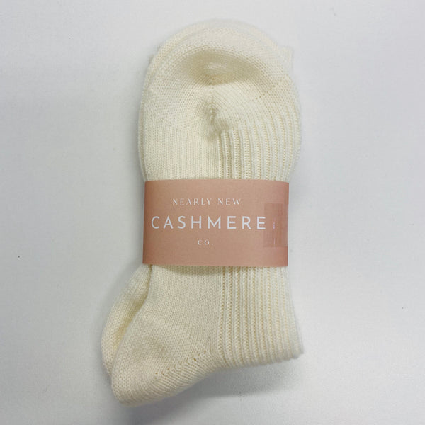 New Clotted Cream Ladies Cashmere Bed Socks